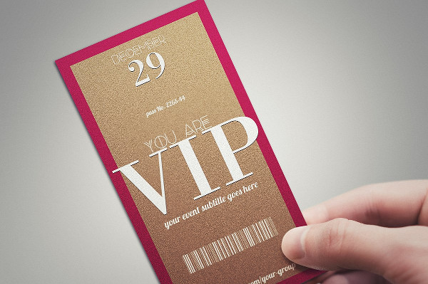 Stylish Minimal VIP Pass Card Template