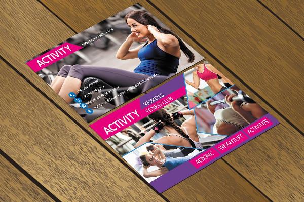 Modern Club Fitness Business Card