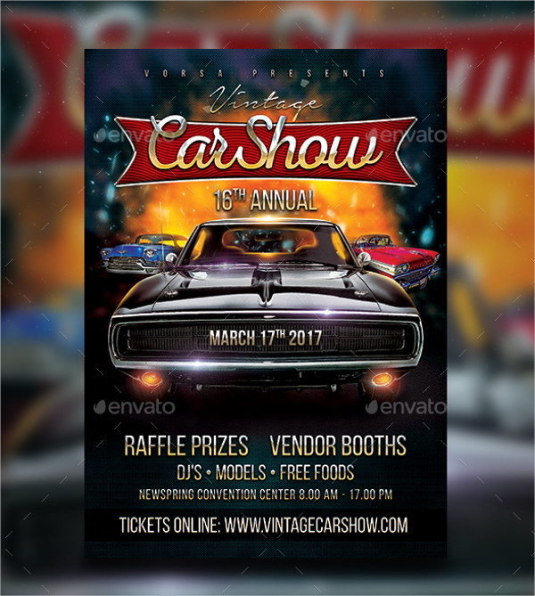Car Show Printable Flyer Template