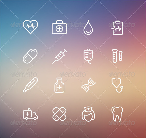 Medical Outline Style Icon Collection