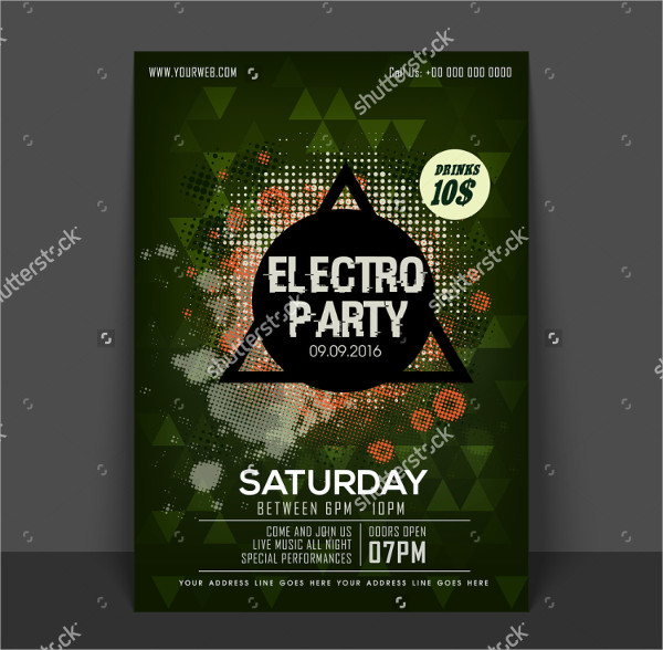 Weekend Electro Party Flyer Design