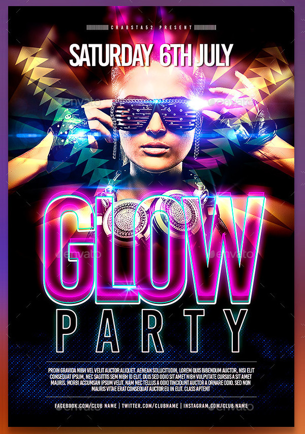 Perfect Glow Party Event Flyer Design