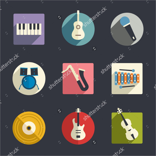 Music Flat Icon Collection