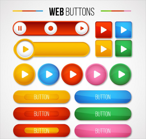 Set of Web Buttons Pack