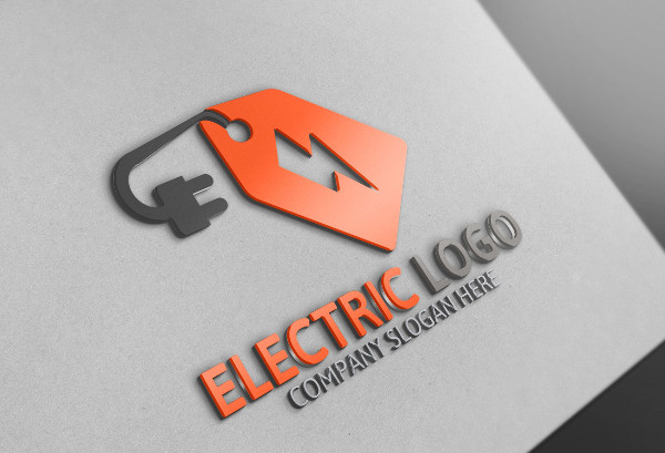 Electric Plug Logo Template
