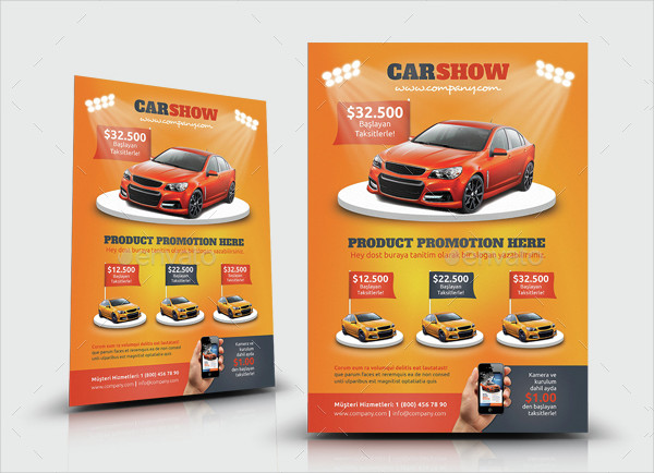 Professional Car Show Flyers