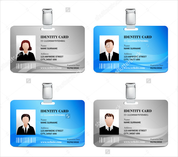 Realistic User ID Card Templates