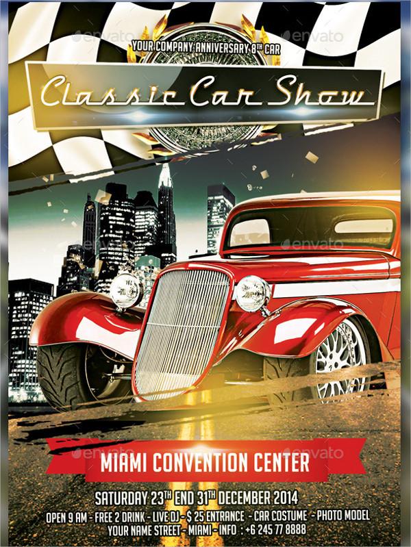 Car Show Fundraiser Flyer