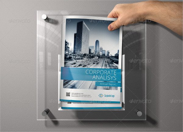 Sharp & Clean Annual Report 16 Pages Brochure