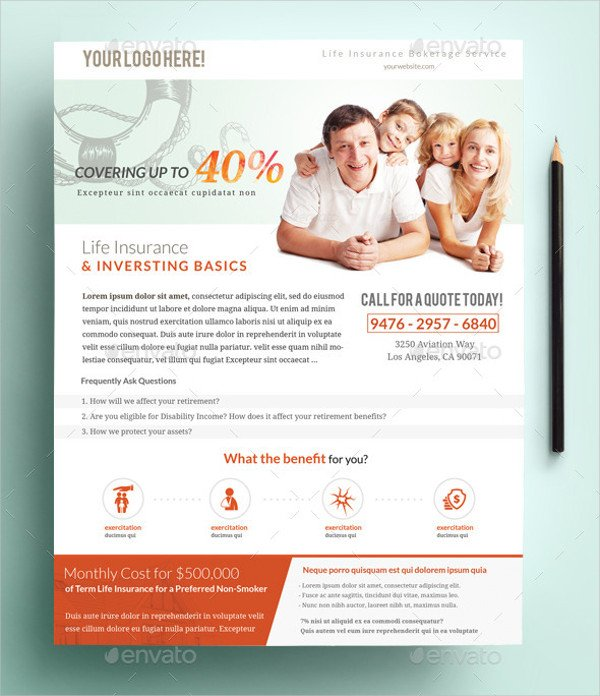 Health Insurance Services Flyer Template