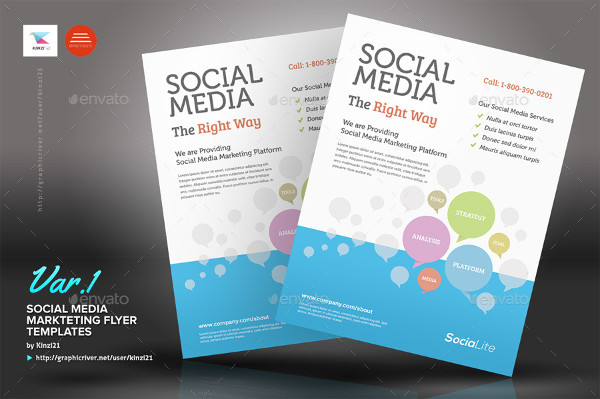 Professional Social Media Marketing Flyer Template