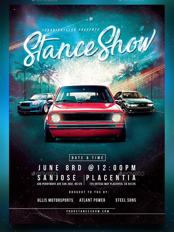 Stance Car Show Flyer PSD
