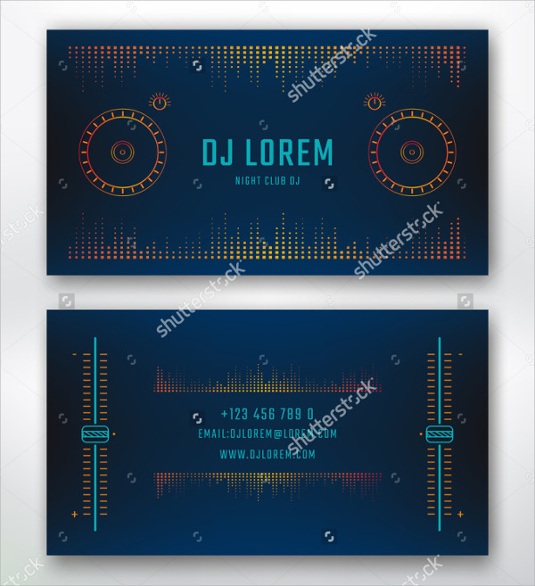 Perfect DJ Studio Business Card Design