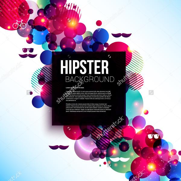 Stylish Hipster Poster on Shiny Background