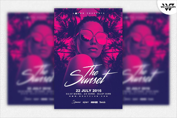 Summer Tropical Party Flyer Templates