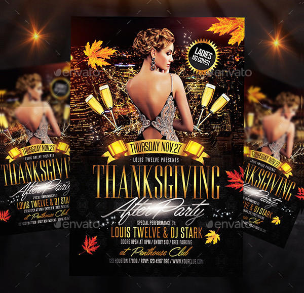 Editable Thanksgiving Flyer PSD Design