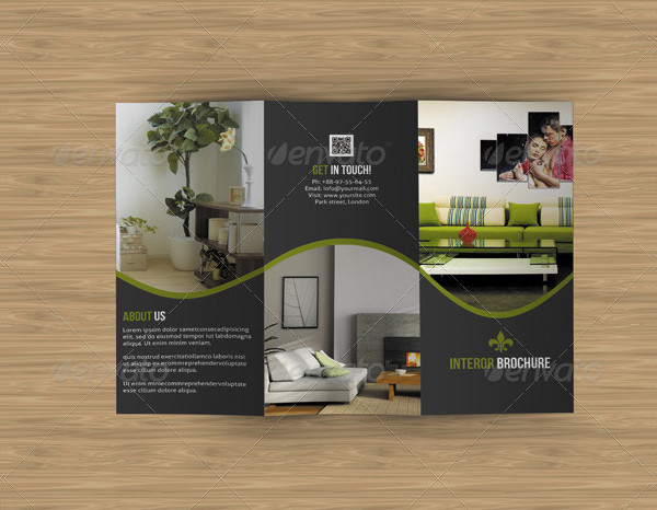 Trifold Marketing Brochure for Interior Design