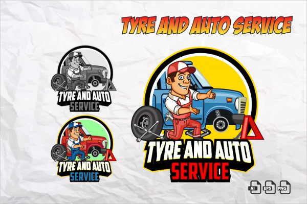 Tyre and Auto Service Logos