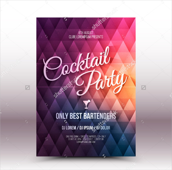 Cocktail Party Vector Design Flyer