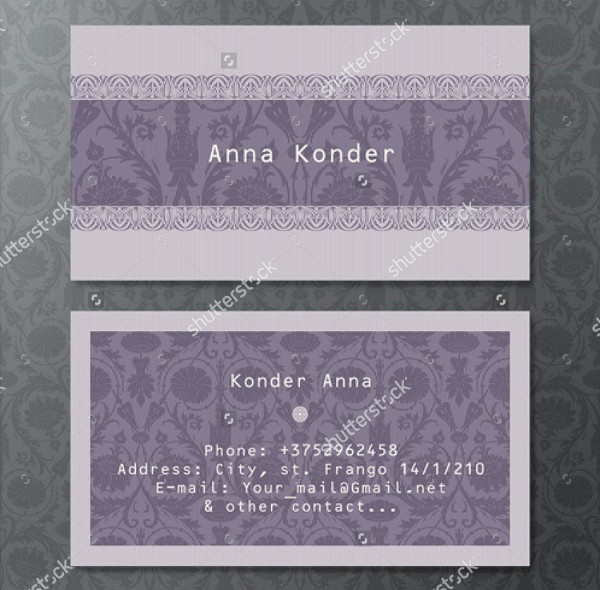 Best Vintage Style Business Card Vector