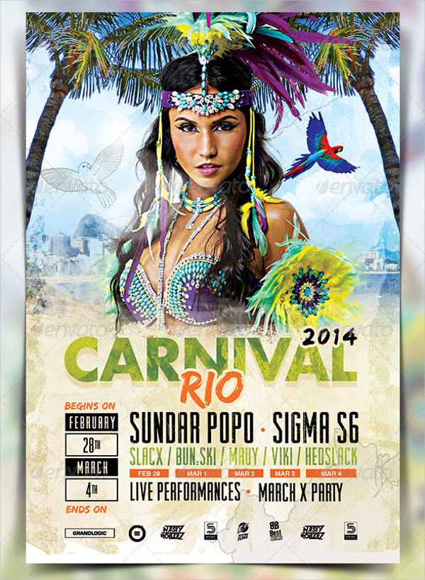 Carnival Party Promotion Flyer