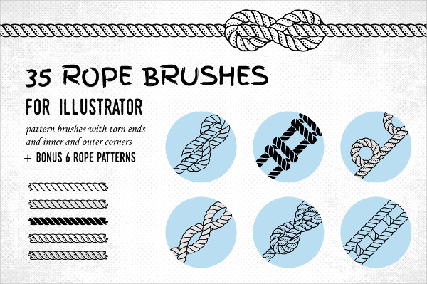 35 Rope Brushes & 6 Patterns