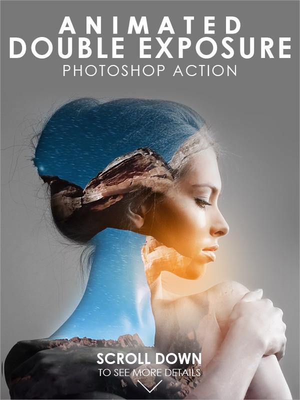 Animated Double Exposure Photoshop Action