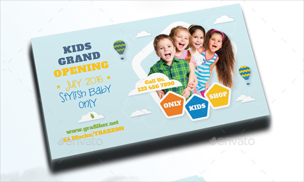 Stylish Kids Business Card Template