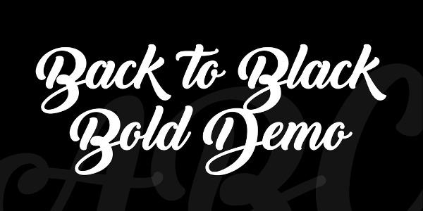 Back to Black Bold Demo Font Free