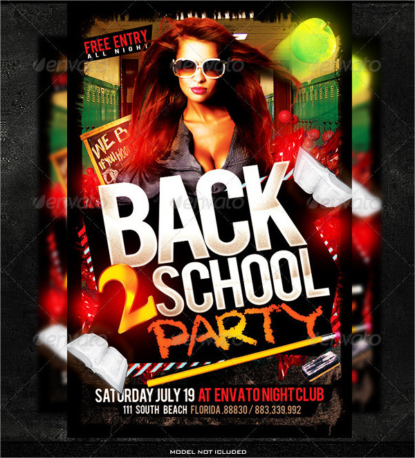Unique Back to School Flyer Template