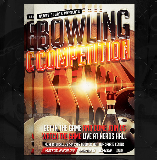Bowling Competition Flyer Templates