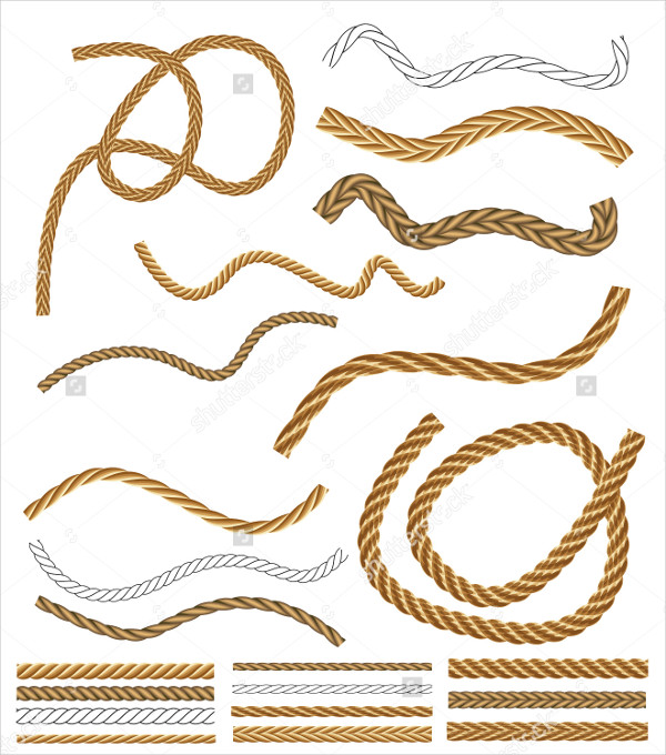 Brown Rope Vector Brush Collection