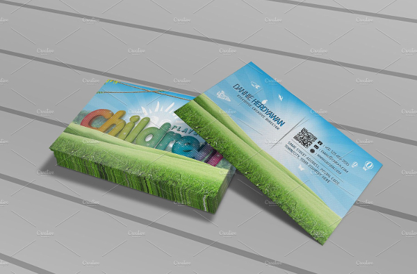 Children Playground Business Card