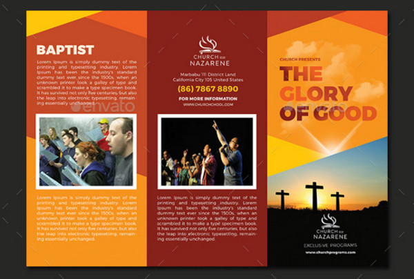 The Glory of God Church Trifold Brochures