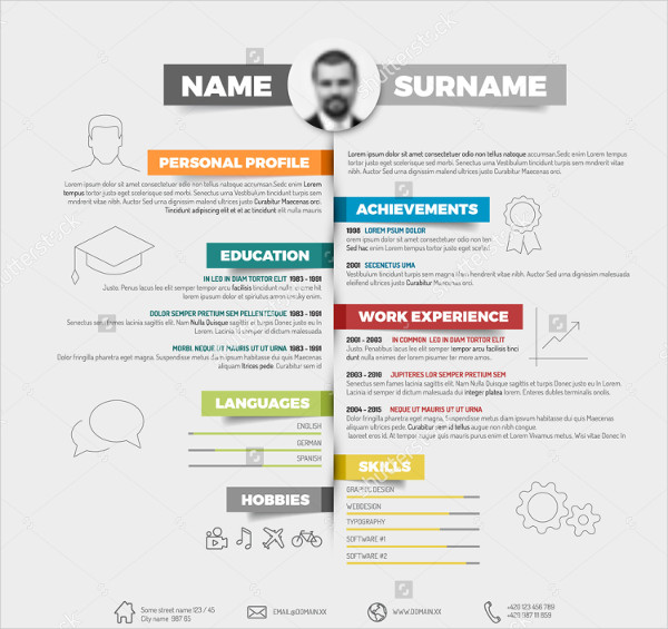 Infographic Resume for Freshers