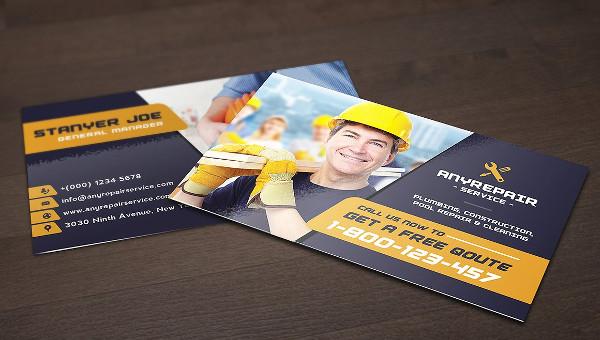 Construction Busines Card