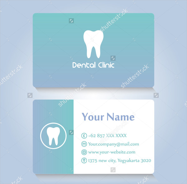 Dental Clinic Vector Design Business Card