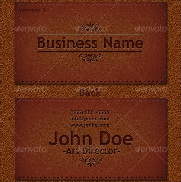 Elegant Leather Business Card