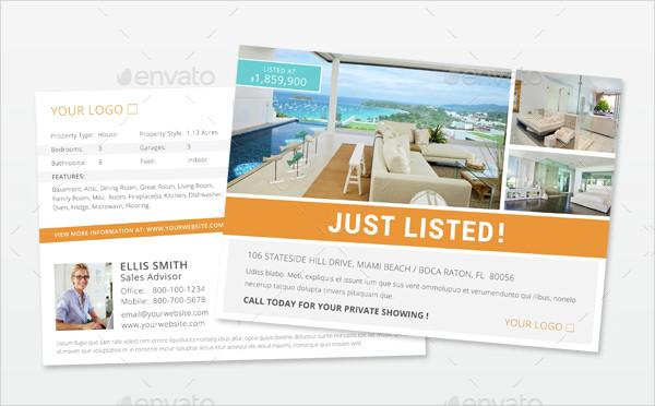 Elegant Real Estate Postacard