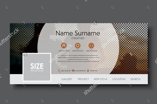 Facebook Vector Design Banner Template