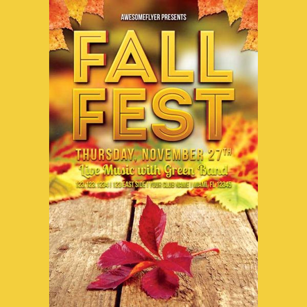 Fall Fest Free Flyer Template