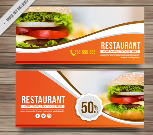Free Menu Discount Banners Download
