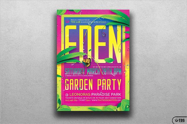 Garden Exotic Party Flyer