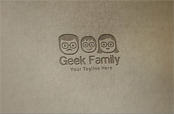 Geek Family Logo Template