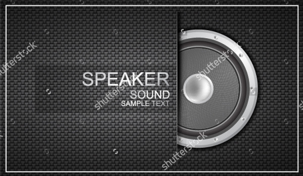 Vector Speaker Business Card Template