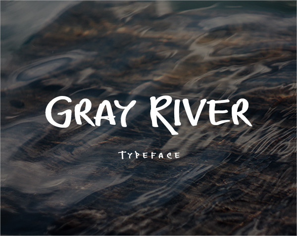 Gray River Fonts in Graffiti Style