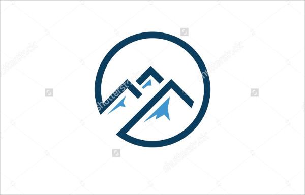 Grunge Mountain Logo