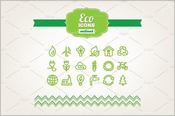 Hand Drawn Eco Icon Set