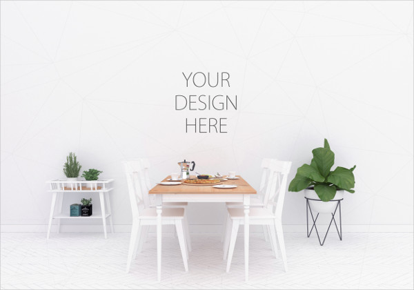 Interior Design Mock-Up to Display your Artwork