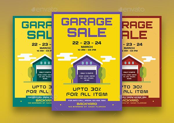 Latest Garage Sale Flyers Bundle
